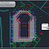 مخطط بسيط لمسبح منزلي اوتوكاد dwg