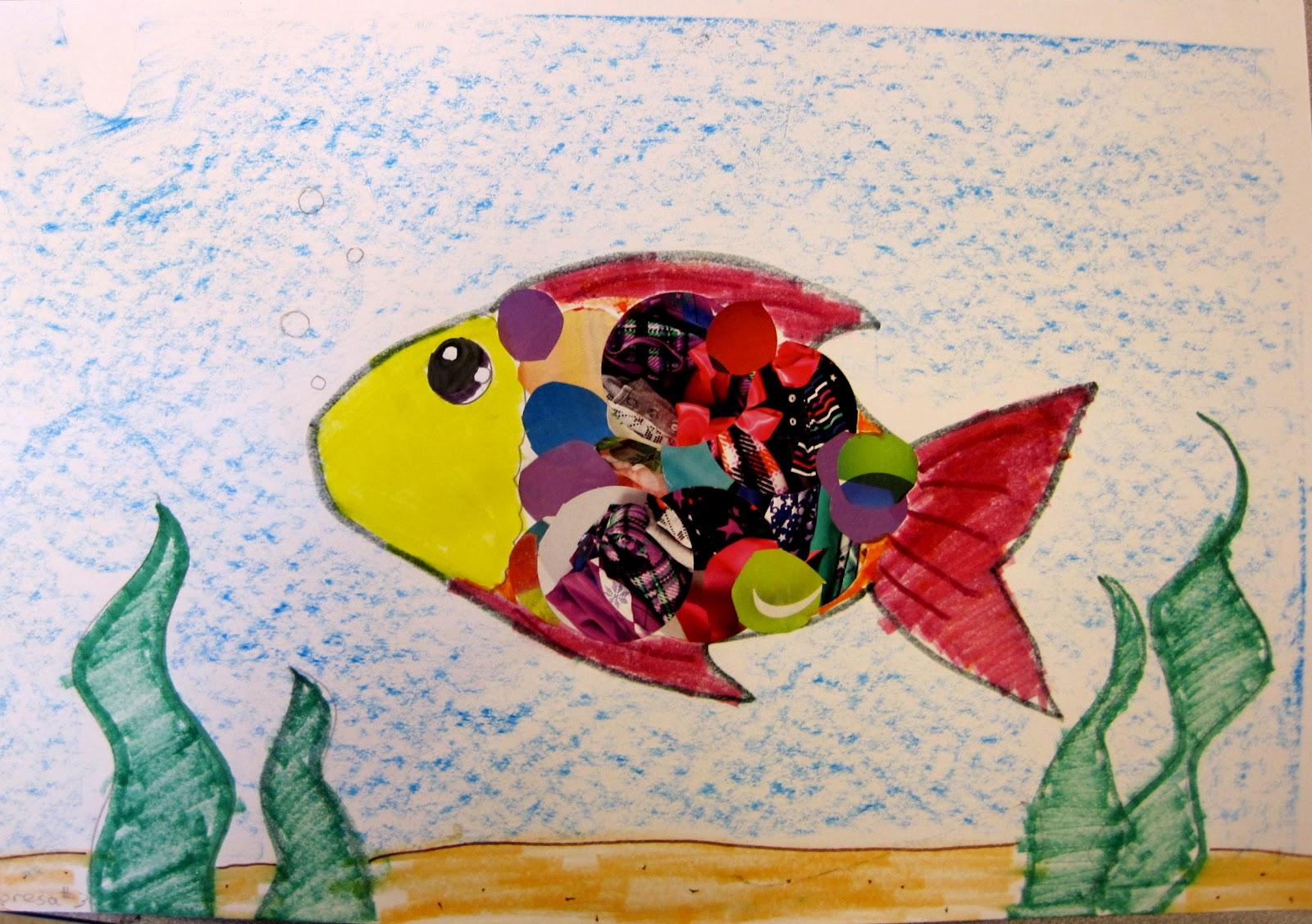 Fish Collage | Art Class Ideas
