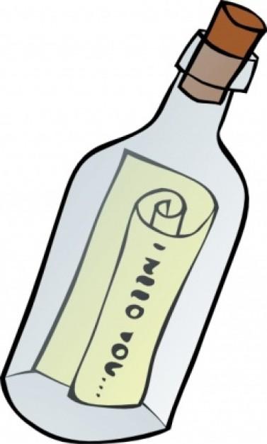 Resultat d'imatges de mensaje botella dibujo