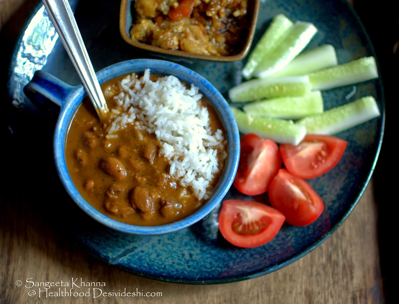 a quick rajma recipe : red kidney beans chilly/stew...