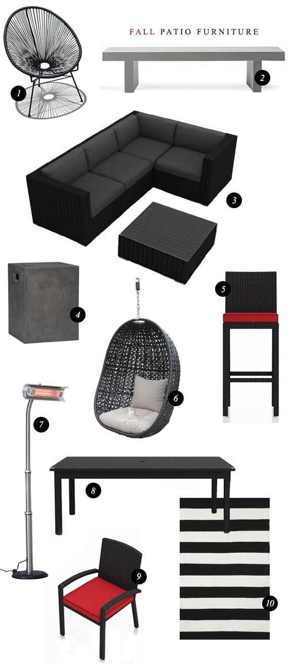 Fall Outdoor Furniture Favorites // Bubby and Bean
