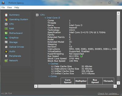 CPU Speccy