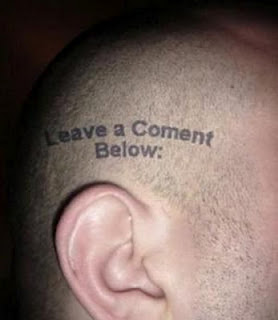 Failed tattoo - misspelled tattoo on the head