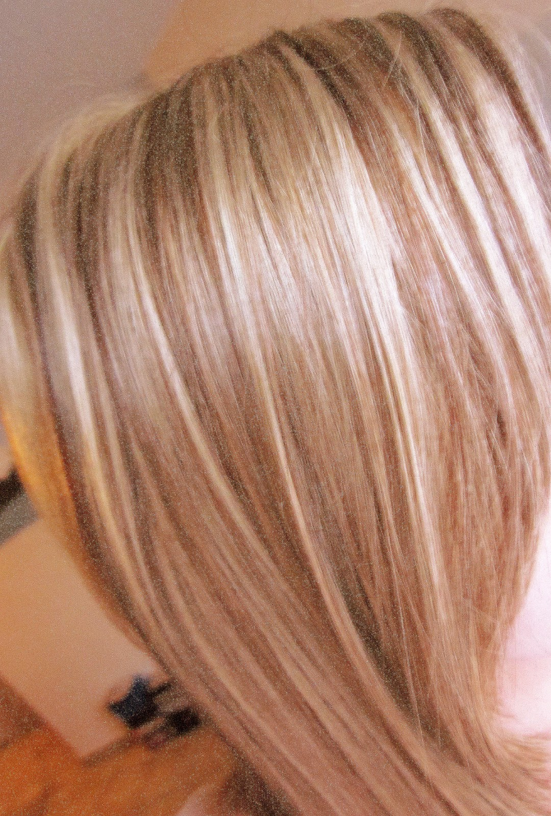 Strähnen haare hellbraune kurze Graue Strähnchen