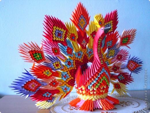 Поделки из модульного оригами павлин