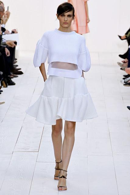 Chloe, white monochrome, Paris Fashion Week Spring 2013 ready to wear