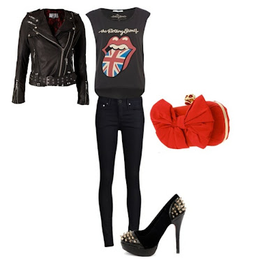 Look Do Dia 18 - Rock - Rolling Stones e Spikes - Clutch Caveira