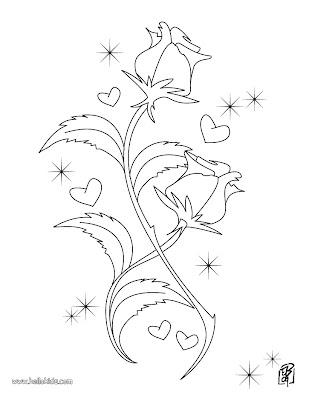 Desenhos Para Colorir dia-dos-namorados-12-Junho coração e flores