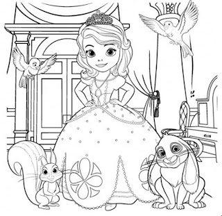 Sofia the first Coloring book