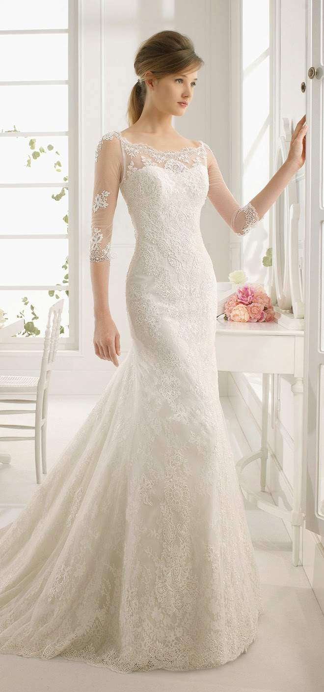 Aire barcelona 2015 bridal collection belle the magazine for Wedding dresses in barcelona spain