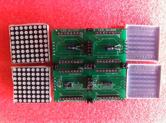 Arduino Interfacing MAX7219 Operates 8X8 LED Matrix