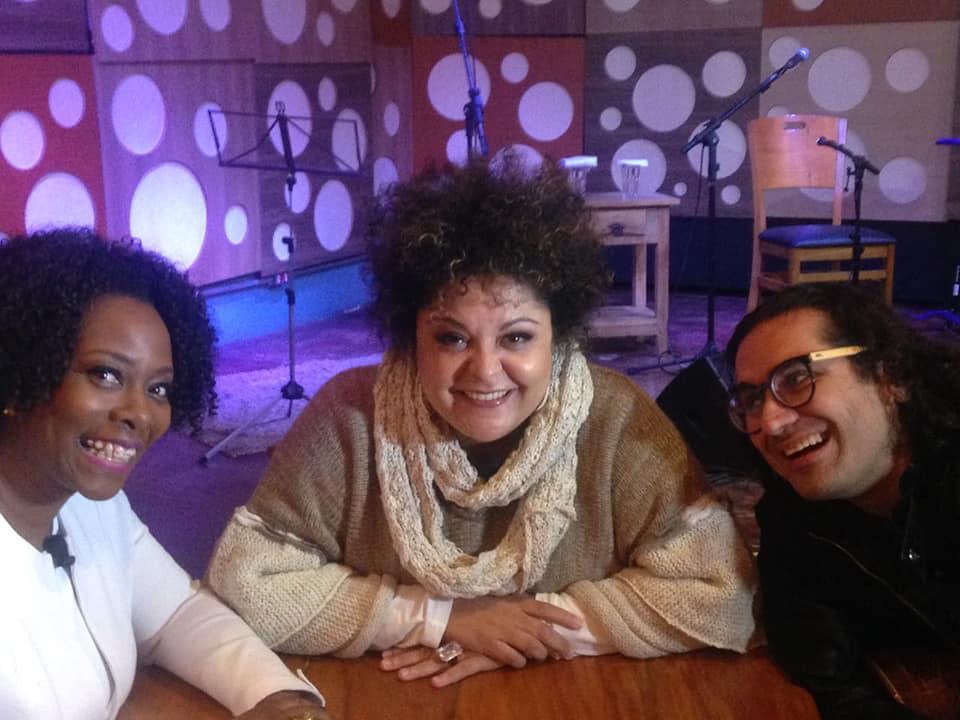 Claudinha Alexandre, Fabiana Cozza e o violonista Alessandro Penezze