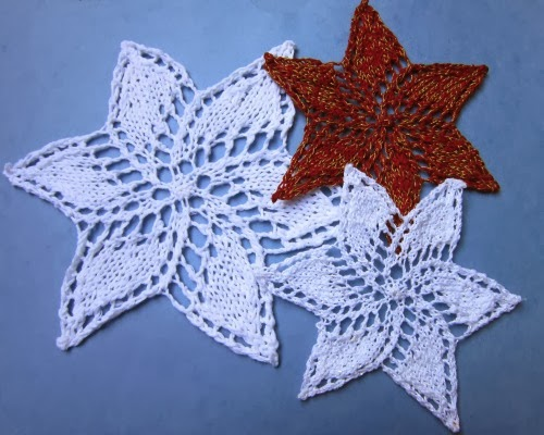 Kreinik Thread Blog Sparkling Knitted Snowflakes