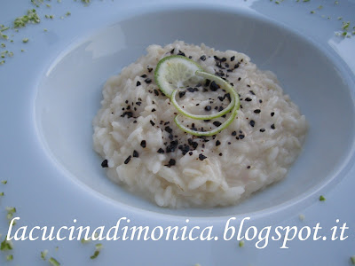 risotto al lime e liquirizia