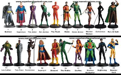 Veja a lista completa de miniaturas da DC