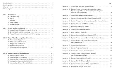 Isi Dari Buku Panduan Program Panduan Kerja Kepala Sekolah.