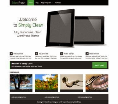 Eden Fresh  Clean, Responsive Theme for your WordPress free
