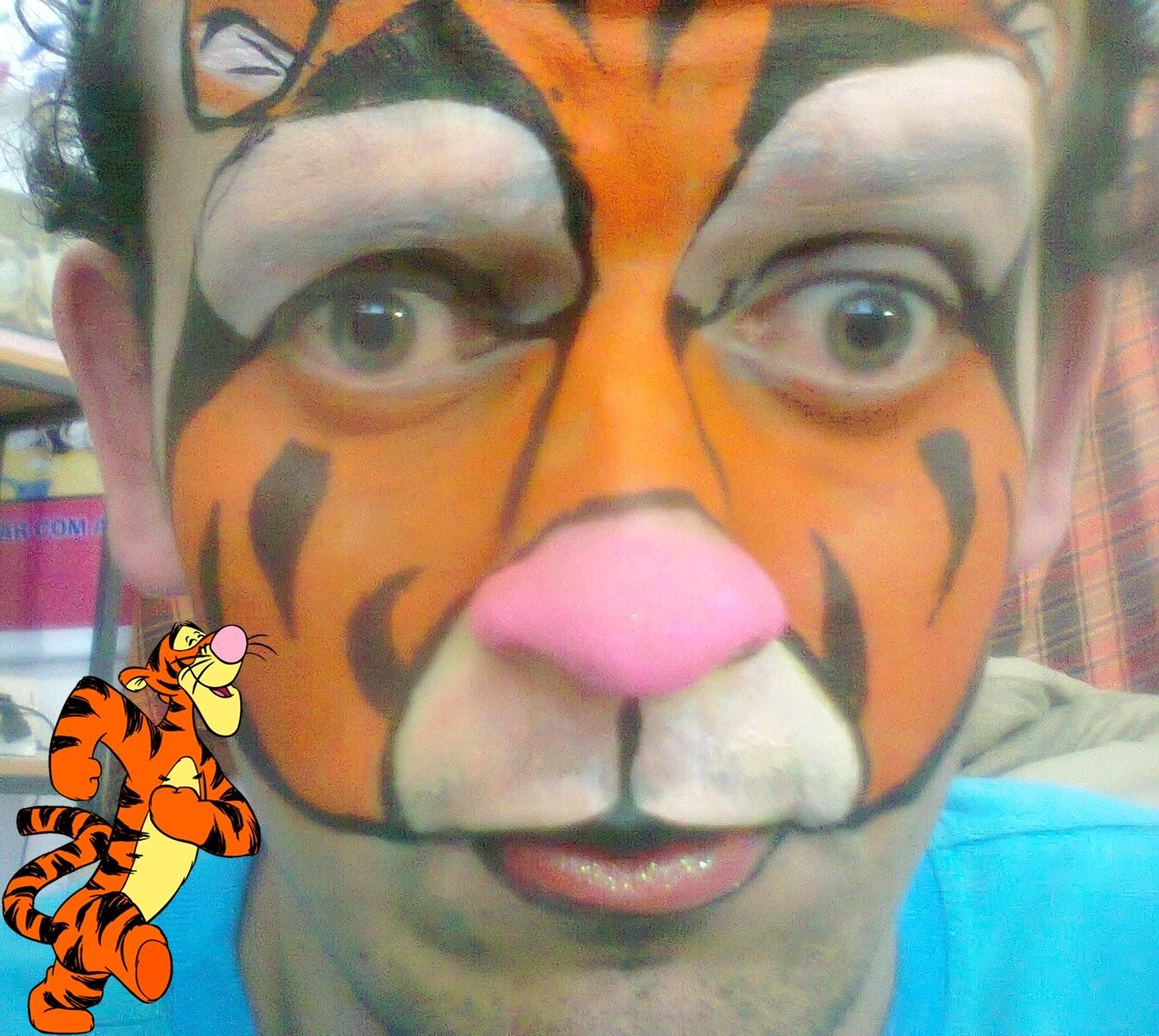 Pintura Facial Artística - tigrão