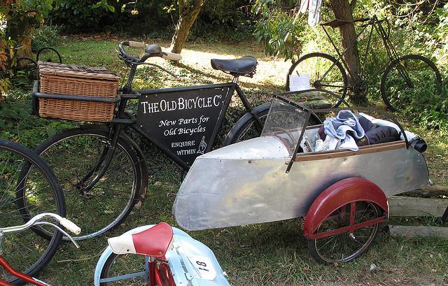 Lindas bicicletas com sidecars