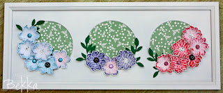 Floral Picture Frame made by Bekka using Vintage Vogue Stamp Set from Stampin' Up! www.feeling-crafty.co,uk