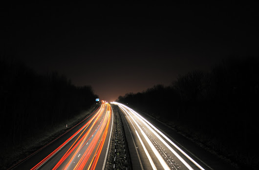motorway at night by Haxonite