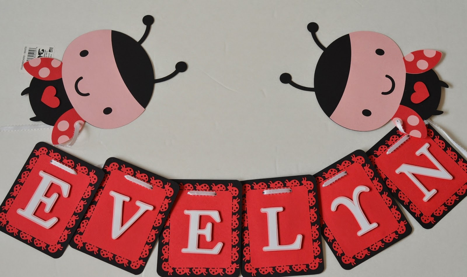 jingvitations ladybug baby shower party banner