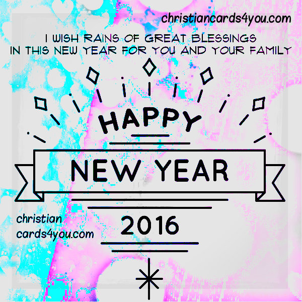 Free new year christian card, wishes, nice quotes by Mery Bracho