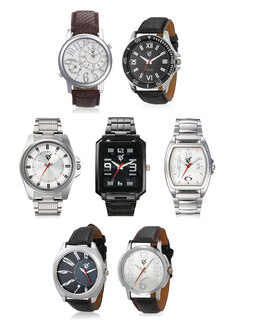 Buy Rico Sordi Mens Set of 7 Watches with Japanese Movement from infibeam.com at Rs 1199 only