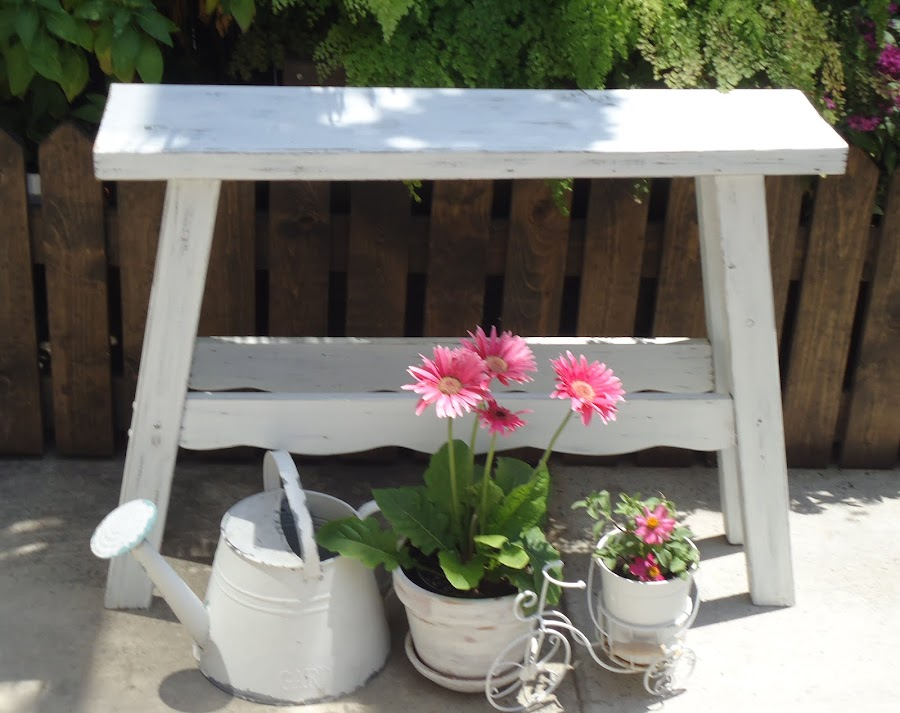 Bar Height Cottage Chic Bench - SOLD