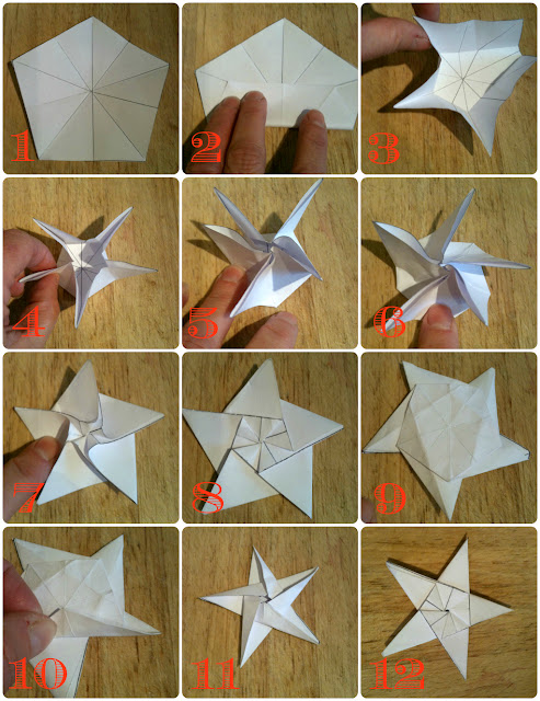 How to make a five point origami star