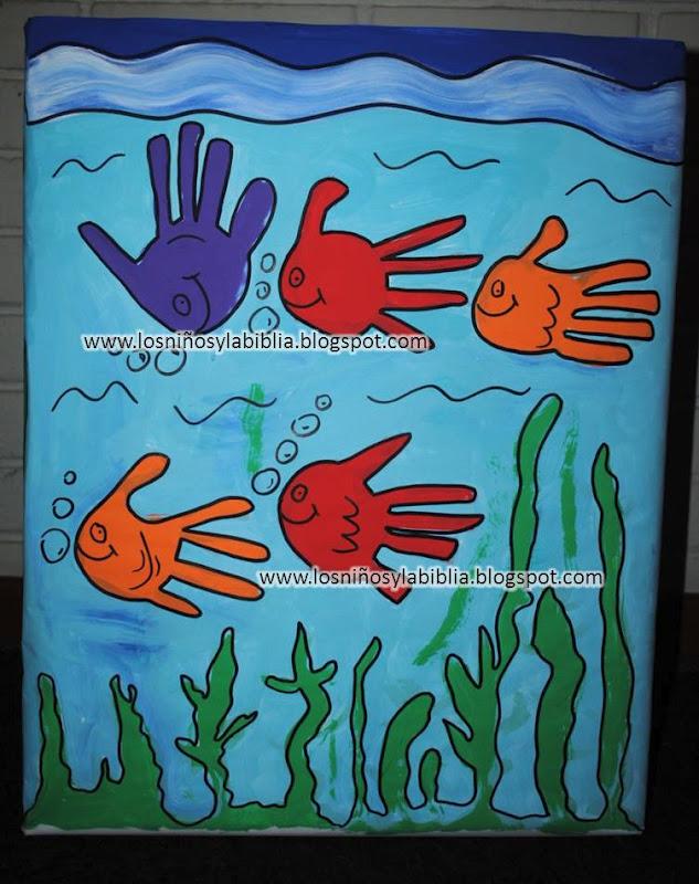 """niños y la Biblia: Paz con la creación. Proyecto """"Cuidemos el mar"""