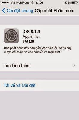 Apple phát hành iOS 8.1.3