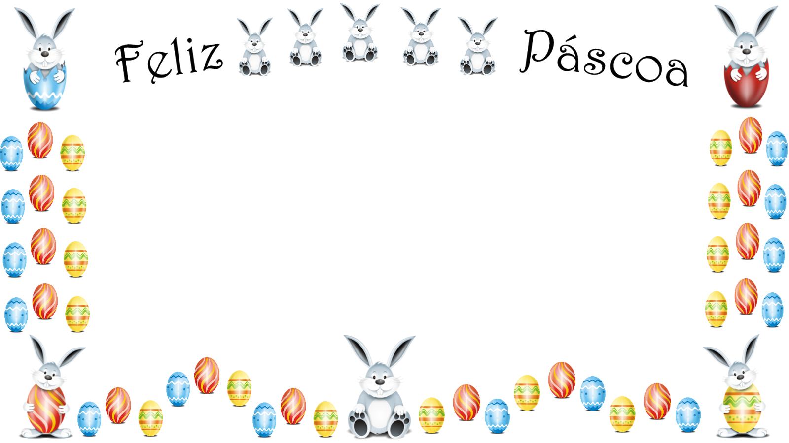 Coelhinhos e ovos-Feliz Pascoa 2 png