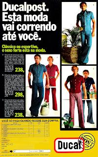 Anúncio Ducal - década de 70