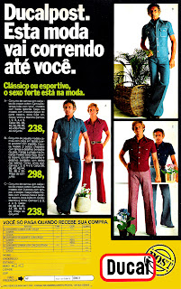 Anúncio Ducal - década de 70, 1975, Moda anos 70; propaganda anos 70; história da década de 70; reclames anos 70; brazil in the 70s; Oswaldo Hernandez