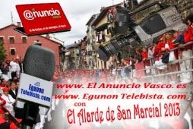 Venta OFICIAL DVD VIDEO del ALARDE 2013 en el Anuncio Vasco (Galerias Juan Arana) Irún