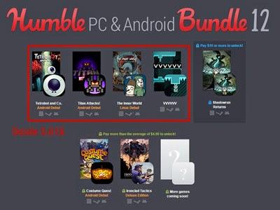 Nuevo Humble Bundle con juegos para Android y PC.