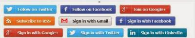 Font-face Button Sosial Media