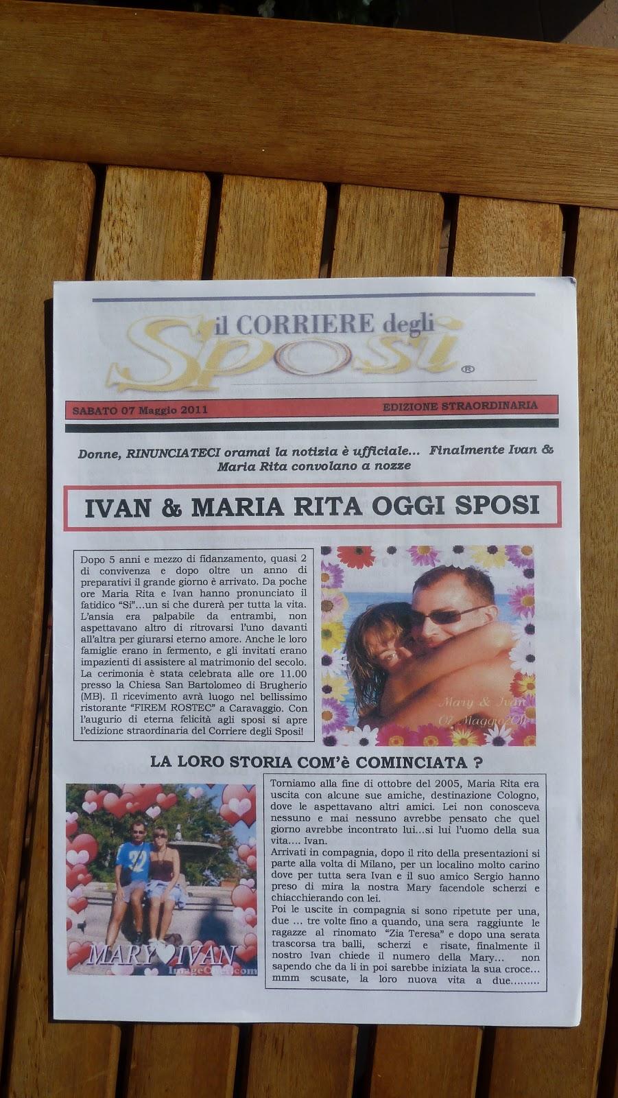 Profumo di matrimonio corriere degli sposi gazzetta for Degli sposi