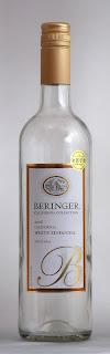 ベリンジャー カリフォルニア ホワイト・ジンファンデル 2008(空き瓶)