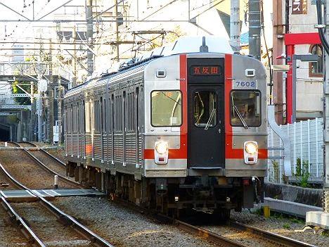 東京急行電鉄池上線 五反田行き2 7600系7602F(廃車)