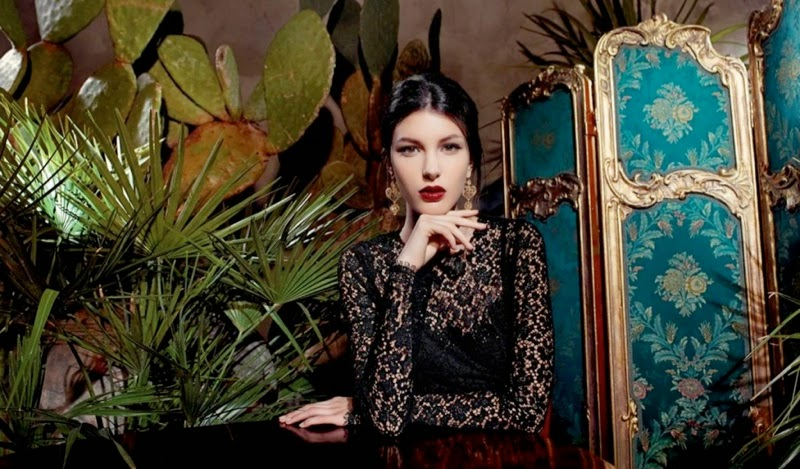 Kate-King-Dolce-And-Gabbana-Baroque-Jewelry-2013-Campaign