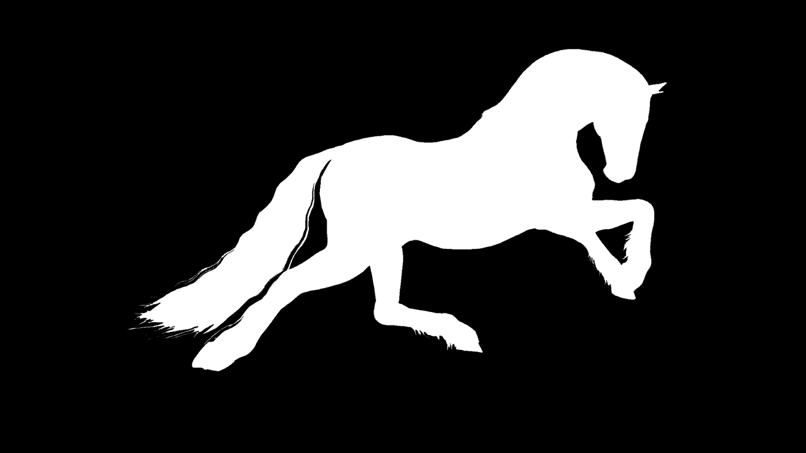 Silhueta invertida - Cavalo PNG