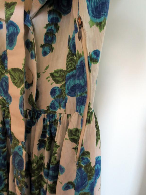Hel dragkedja vintageklänning