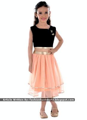 Black n Green / Black n Peach Kids Wedding Dresses