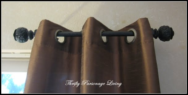 Thrifty Parsonage Living: SECRET TO INEXPENSIVE CURTAIN RODS