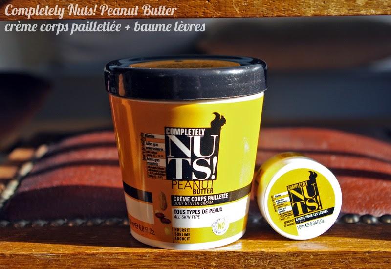 Completely Nuts Peanut Butter : avis crème corps pailletée et baume à lèvres