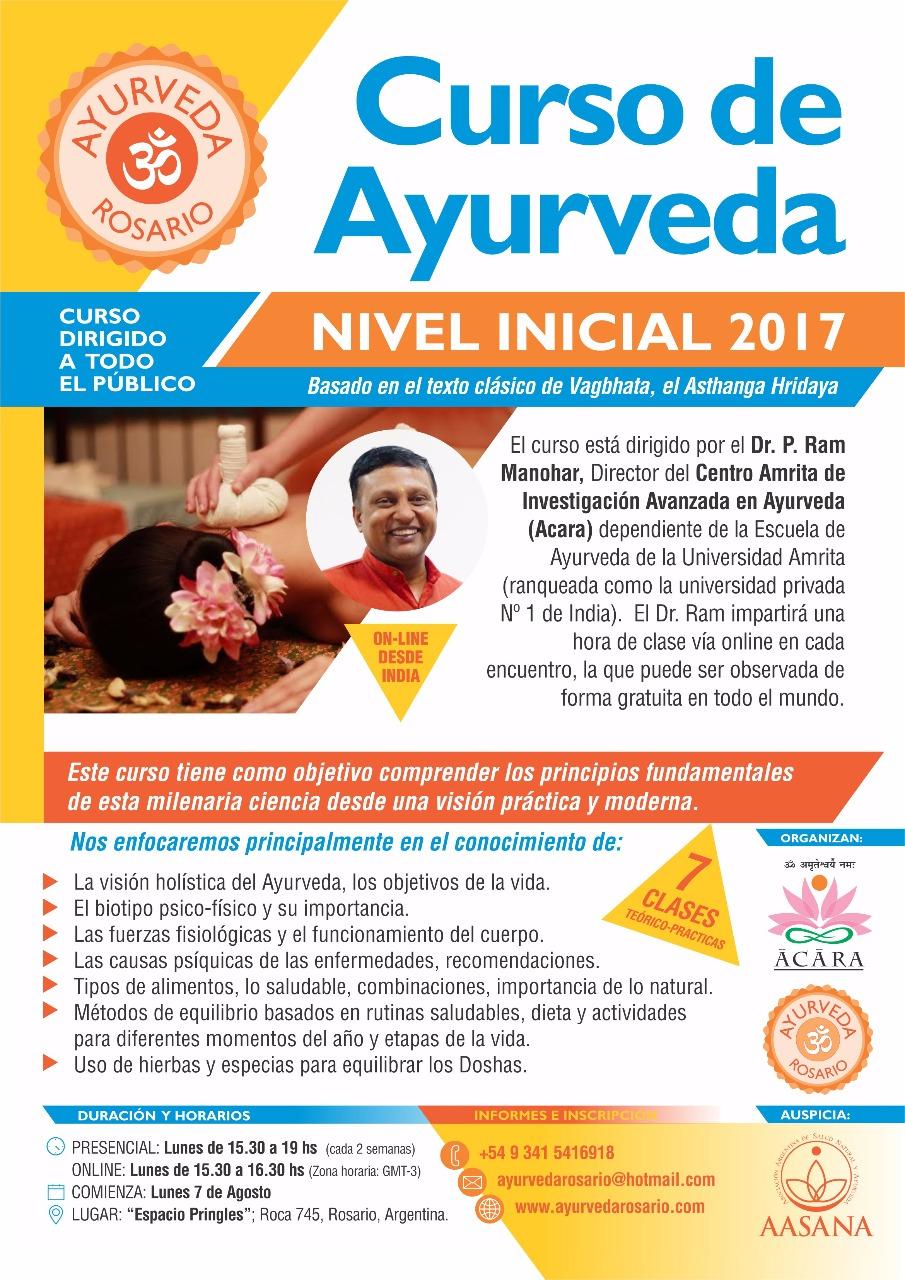 Curso de Ayurveda on-line con el Dr Ram Manohar
