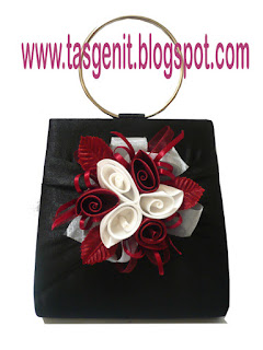 tas pesta bunga dompet pesta clutch bag