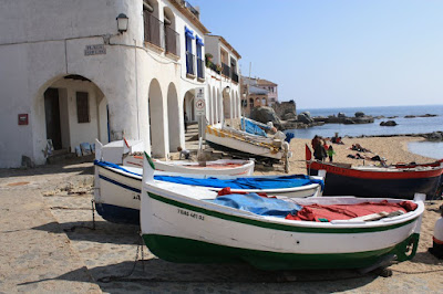 Fishing boats on the beach of Calella de Palafrugell
